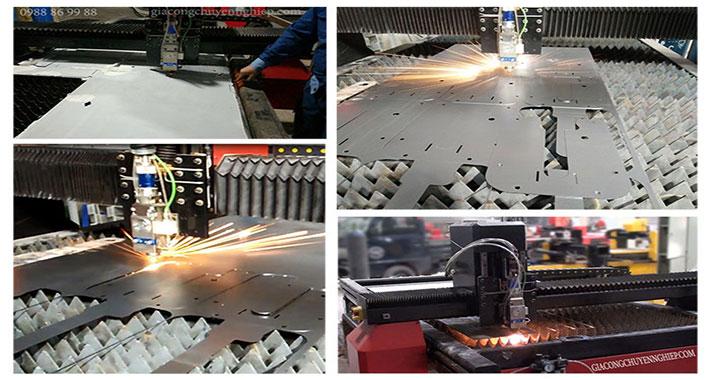 Hình ảnh máy cắt laser fiber cắt kim loại