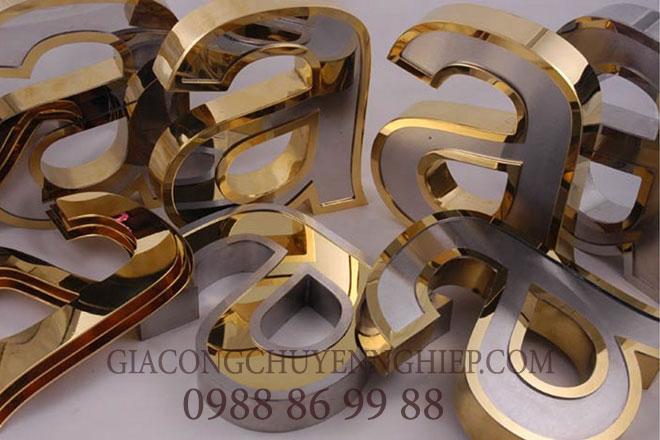 Nhận cắt chữ inox tại Hưng Yên, làm chữ nổi inox