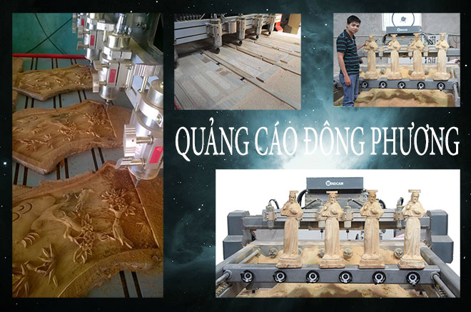 Nhận gia công gỗ CNC, đục tượng gỗ bằng máy