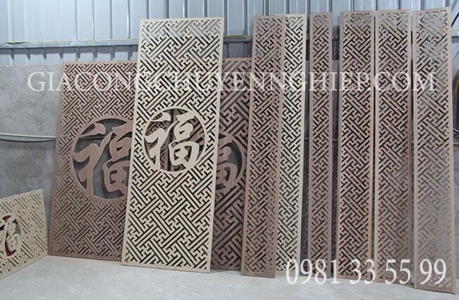 Gia công CNC vách ngăn trang trí bằng gỗ đẹp, giá rẻ