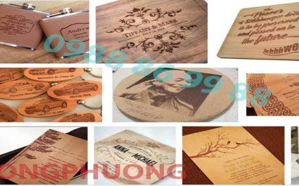 Khắc Laser trên gỗ tại Bắc Giang giá rẻ, lâý ngay