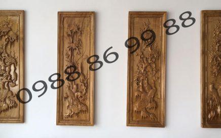 Làm tranh khắc gỗ phong thủy tứ quý giá rẻ-uy tín tại Đồng Nai