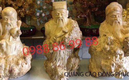 Nhận điêu khắc tượng tam đa bằng gỗ chất lượng - giá rẻ