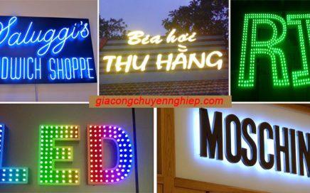 Biển quảng cáo chữ phát sáng đẹp - giá rẻ - chất lượng