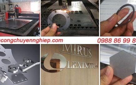 Cắt inox tấm bằng máy laser fiber tại Hà Nội - giá rẻ - lấy nhanh