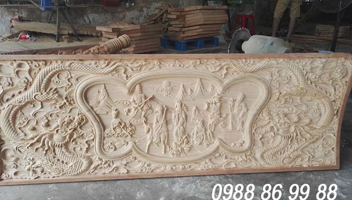 Gia công chạm khắc gỗ bằng máy cnc giá rẻ - làm theo yêu cầu 3