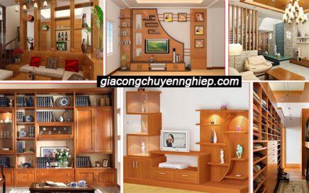Mẫu tủ âm tường phòng khách đẹp bằng gỗ được thiết kế ở đâu