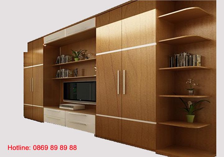 Những mẫu tủ tường gỗ đẹp - Địa chỉ đóng tủ tường gỗ theo yêu cầu 7