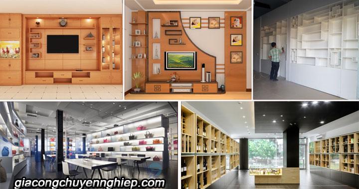 Những mẫu tủ tường gỗ đẹp - Địa chỉ đóng tủ tường gỗ theo yêu cầu