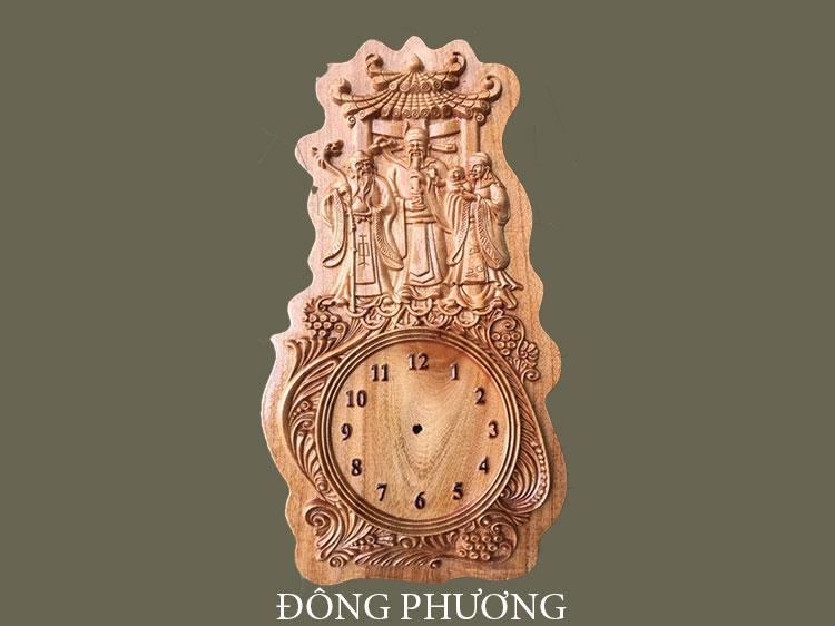 Đồng hồ khắc gỗ 03