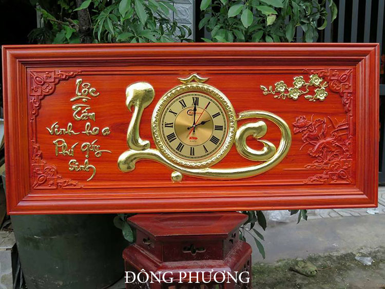 Đồng hồ khắc gỗ 05