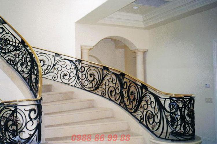 Lan can cầu thang sắt 2