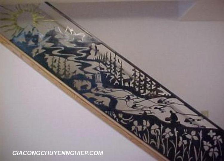 Lan can cầu thang sắt 4