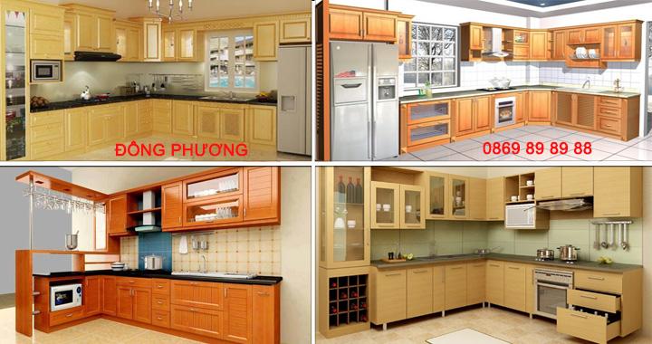 Nhận gia công hoàn thiện tủ bếp gỗ công nghiệp đẹp - Giá rẻ