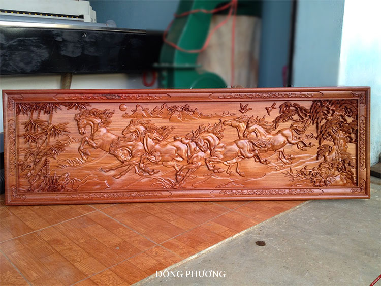 Tranh đục gỗ cnc 003