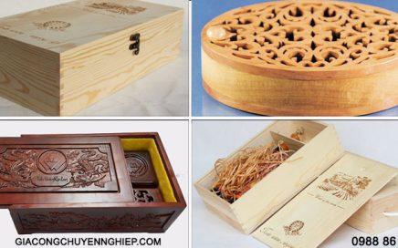 Xưởng sản xuất hộp gỗ, hộp đựng rượu bằng gỗ, hộp quà gỗ theo yêu cầu