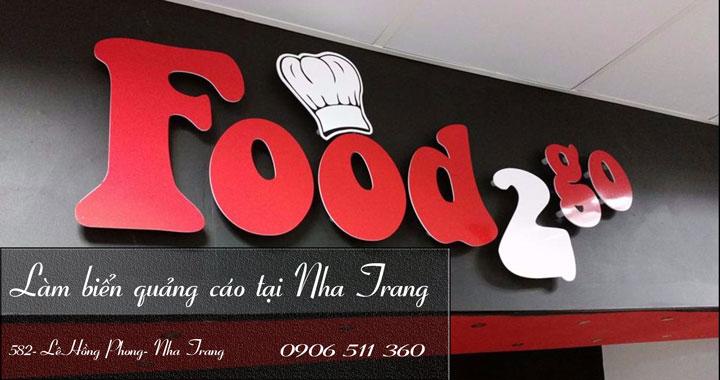 2 Làm biển hiệu, thiết kế biển quảng cáo, cắt chữ quảng cáo tại Nha Trang