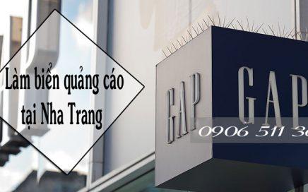 Làm biển hiệu, thiết kế biển quảng cáo, cắt chữ quảng cáo tại Nha Trang