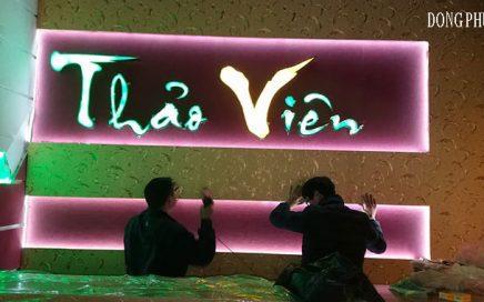 Địa chỉ làm bảng hiệu chữ nổi mica 3D tại Hoàng Mai - Hà Nội
