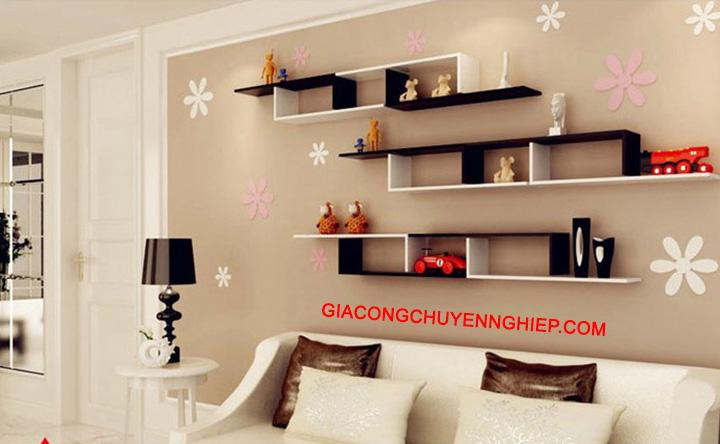Nhận thiết kế, thi công kệ trang trí, kệ sách, kệ gỗ treo tường giá rẻ 2