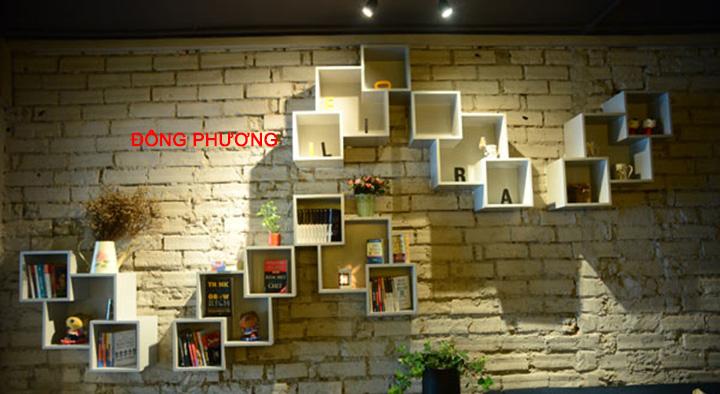 Nhận thiết kế, thi công kệ trang trí, kệ sách, kệ gỗ treo tường giá rẻ 3