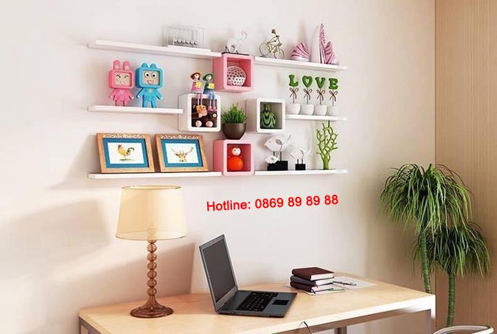 Nhận thiết kế, thi công kệ trang trí, kệ sách, kệ gỗ treo tường giá rẻ 4