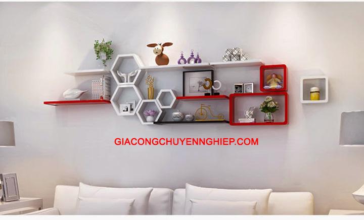 Nhận thiết kế, thi công kệ trang trí, kệ sách, kệ gỗ treo tường giá rẻ 5