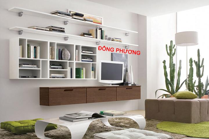 Nhận thiết kế, thi công kệ trang trí, kệ sách, kệ gỗ treo tường giá rẻ 8