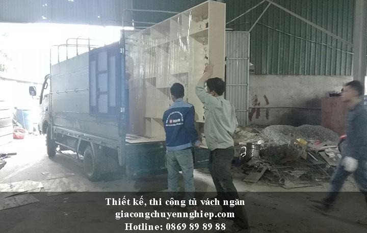 Nhận thiết kế, thi công tủ vách ngăn đẹp, chất lượng tại Hưng Yên 4