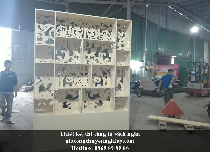 Nhận thiết kế, thi công tủ vách ngăn đẹp, chất lượng tại Hưng Yên 1