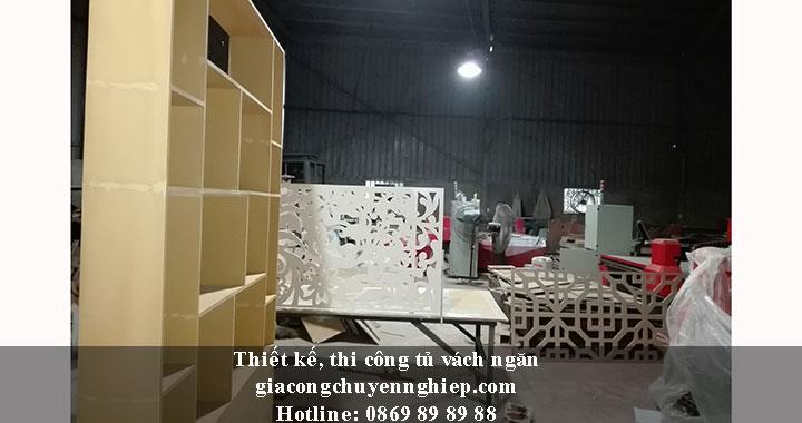 Nhận thiết kế, thi công tủ vách ngăn đẹp, chất lượng tại Hưng Yên