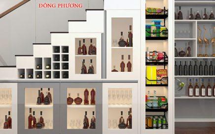 Mẫu tủ rượu âm tường phòng khách đẹp, giá rẻ tại Hà Nội