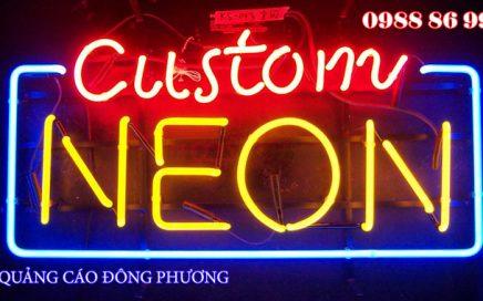 Nổi bật thương hiệu với kiểu chữ, biển quảng cáo sử dụng đèn neon sign