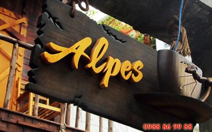 Địa chỉ làm biển quảng cáo bằng gỗ giá rẻ, đẹp chất lượng cao tại Hà Nội