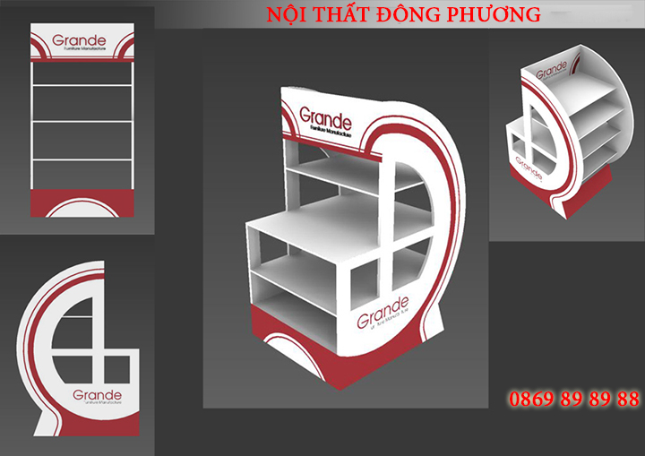 Địa chỉ thiết kế, làm kệ trưng bày sản phẩm mẫu đẹp, giá rẻ tại Hà Nội 1