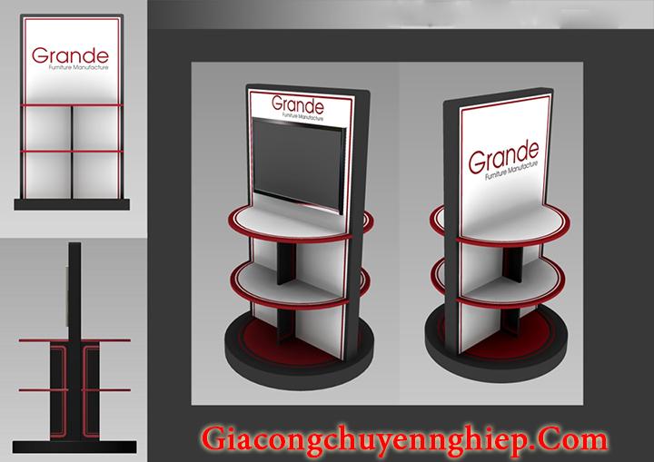 Địa chỉ thiết kế, làm kệ trưng bày sản phẩm mẫu đẹp, giá rẻ tại Hà Nội 4