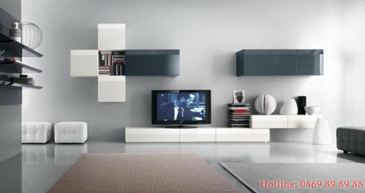 Mẫu kệ tivi phòng khách nhỏ, kệ tivi bằng gỗ đẹp, giá rẻ tại Hà Nội 10