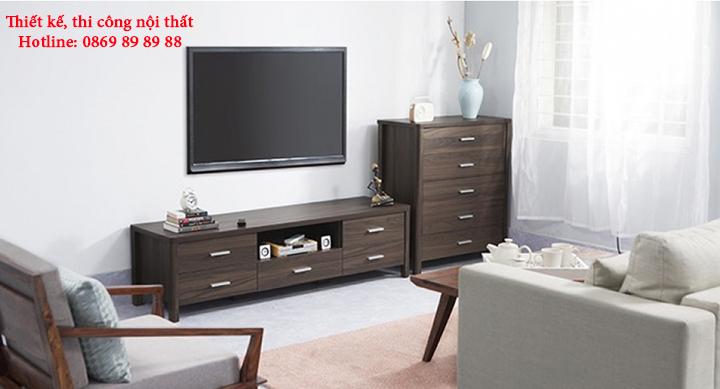 Mẫu kệ tivi phòng khách nhỏ, kệ tivi bằng gỗ đẹp, giá rẻ tại Hà Nội 12