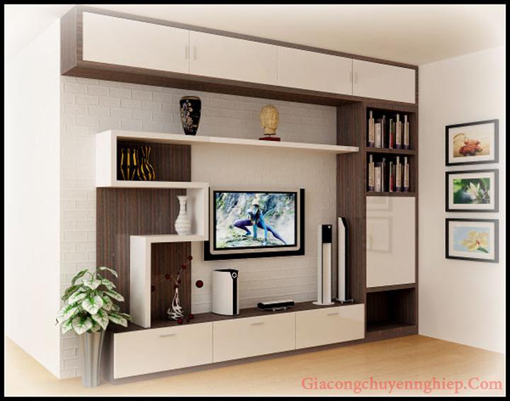 Mẫu kệ tivi phòng khách nhỏ, kệ tivi bằng gỗ đẹp, giá rẻ tại Hà Nội 2