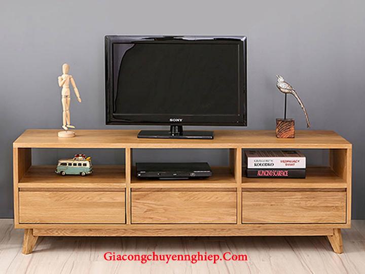 Mẫu kệ tivi phòng khách nhỏ, kệ tivi bằng gỗ đẹp, giá rẻ tại Hà Nội 5