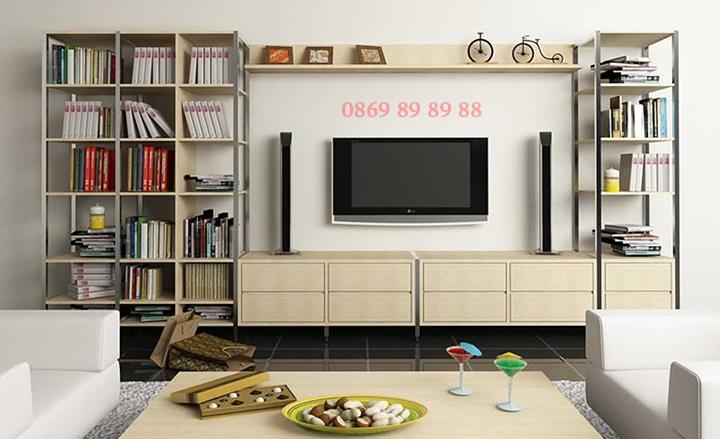Mẫu kệ tivi phòng khách nhỏ, kệ tivi bằng gỗ đẹp, giá rẻ tại Hà Nội 7