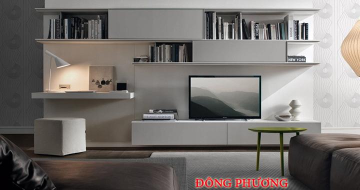 Mẫu kệ tivi phòng khách nhỏ, kệ tivi bằng gỗ đẹp, giá rẻ tại Hà Nội 8