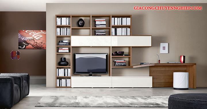 Mẫu kệ tivi phòng khách nhỏ, kệ tivi bằng gỗ đẹp, giá rẻ tại Hà Nội 9