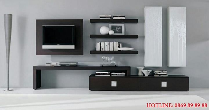 Mẫu kệ tivi phòng khách nhỏ, kệ tivi bằng gỗ đẹp, giá rẻ tại Hà Nội