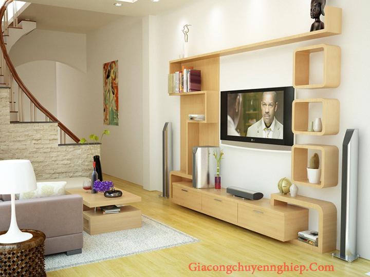 Mẫu kệ tivi phòng khách nhỏ, kệ tivi bằng gỗ đẹp, giá rẻ tại Hà Nội 13