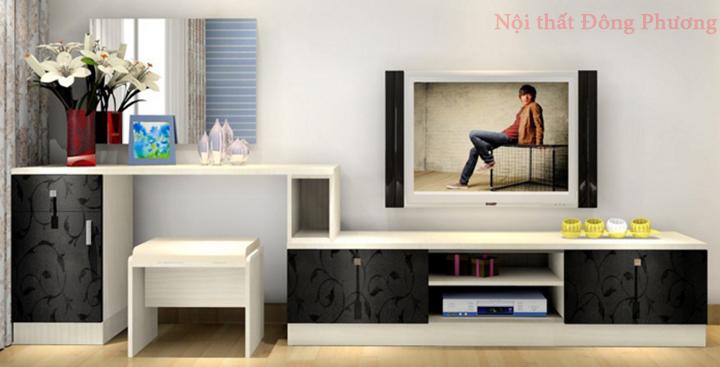 Mẫu kệ tivi phòng khách nhỏ, kệ tivi bằng gỗ đẹp, giá rẻ tại Hà Nội 6