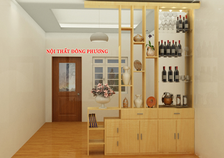 Tổng hợp 20 mẫu vách ngăn phòng khách và bếp đẹp, sang trọng 5