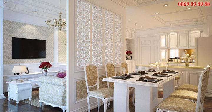 Tổng hợp 20 mẫu vách ngăn phòng khách và bếp đẹp, sang trọng 6