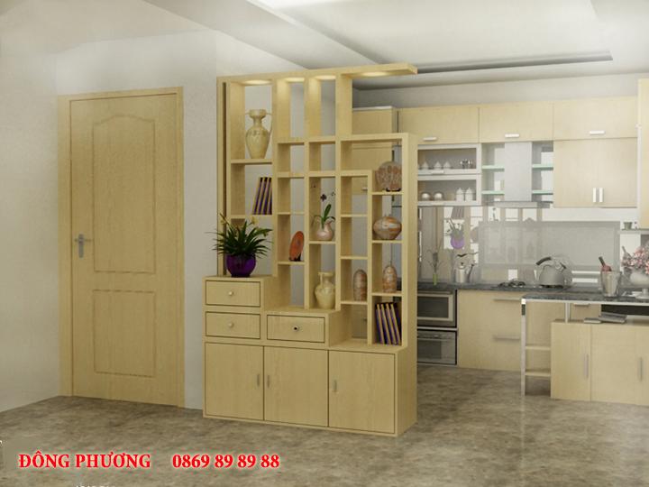 Tổng hợp 20 mẫu vách ngăn phòng khách và bếp đẹp, sang trọng 13