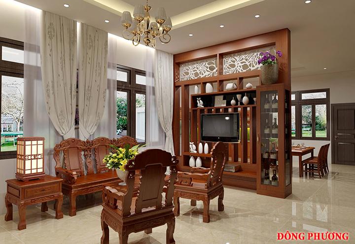 Tổng hợp 20 mẫu vách ngăn phòng khách và bếp đẹp, sang trọng 14